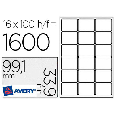 AVERY ÉTIQUETTES 99.1X33.9MM