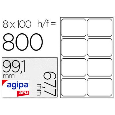 AGIPA ÉTIQUETTES BLANCHES 99.1X67.7MM