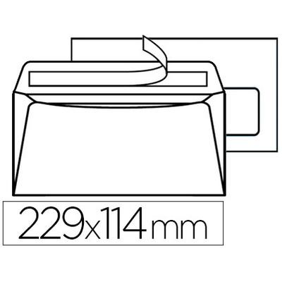 ENVELOPPES MULTI MACHINES 114X229MM AVEC FENÊTRE 35X100MM