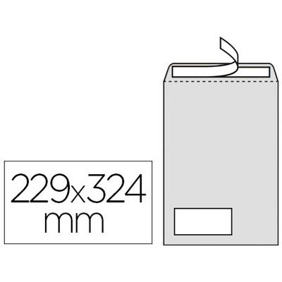 250 POCHETTES BLANCHES C4 AVEC FENÊTRE 50X100MM