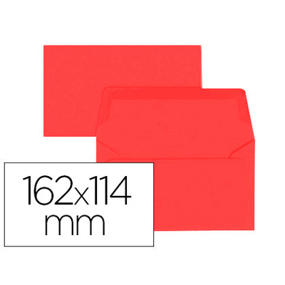 ENVELOPPES 114X162MM ROUGE