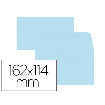 ENVELOPPES 114X162MM BLEU CIEL
