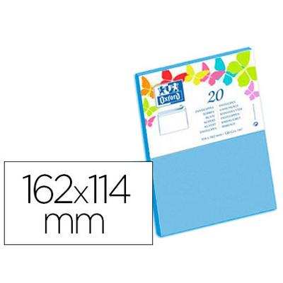 ENVELOPPES 114X162MM BLEU LAGON