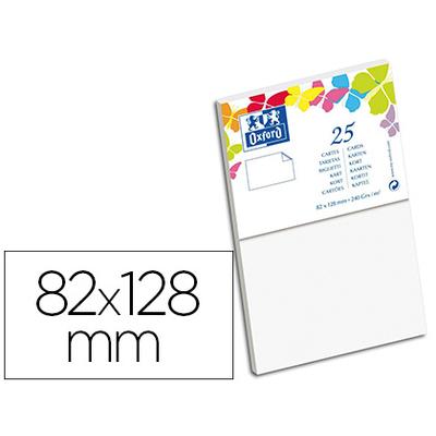 CARTES 82X128MM BLANC