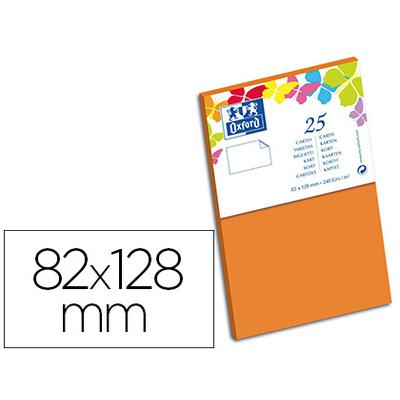 CARTES 82X128MM ORANGE