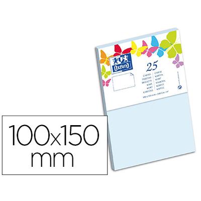 CARTES 100X150MM BLEU CIEL