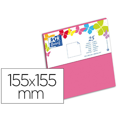 CARTES 155X155MM ROSE