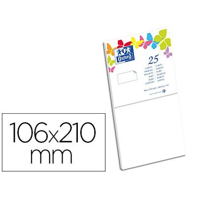 CARTES 106X210MM BLANC
