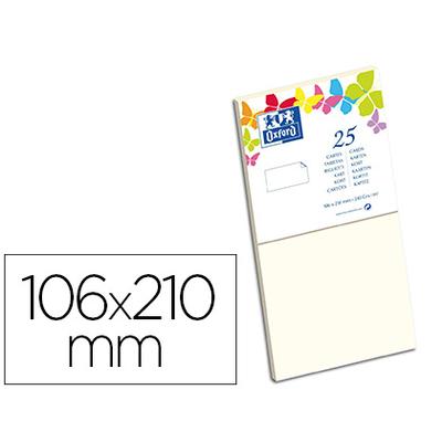 CARTES 106X210MM VANILLE