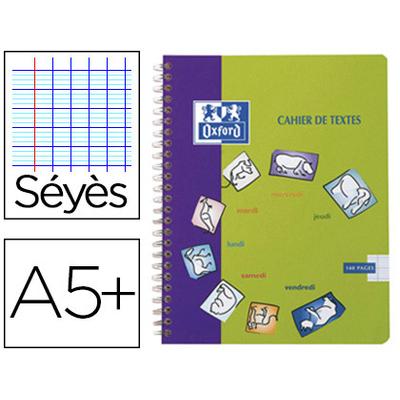 CAHIER DE TEXTE 17X22CM 148 PAGES FANTAISIE