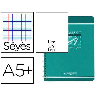 SPIRALE 17X22CM 40 PAGES SÉYÈS + 40 UNIES