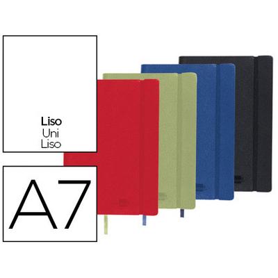 SIMILI CUIR A7 240 PAGES RÉGLURE UNI ASSORTIS