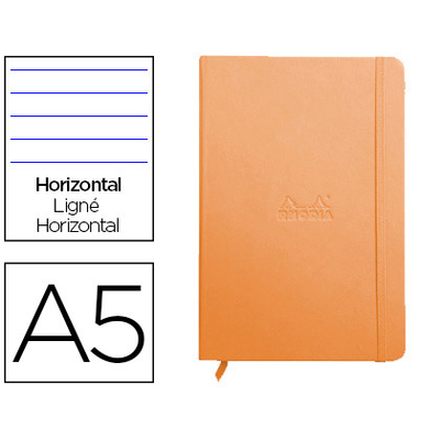 WEBNOTEBOOK A5 192 PAGES LIGNÉES TANGERINE