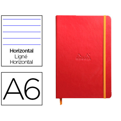 WEBNOTEBOOK A6 192 PAGES LIGNÉES COQUELICOT