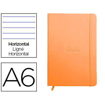 WEBNOTEBOOK A6 192 PAGES LIGNÉES TANGERINE
