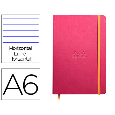 WEBNOTEBOOK A6 192 PAGES LIGNÉES FRAMBOISE