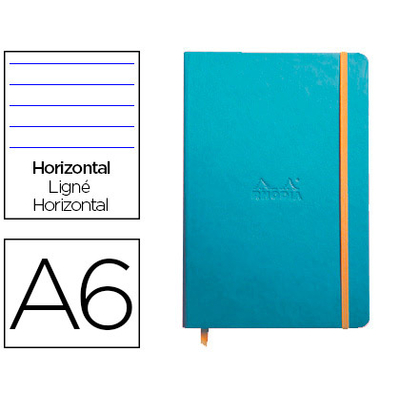 WEBNOTEBOOK A6 192 PAGES LIGNÉES TURQUOISE