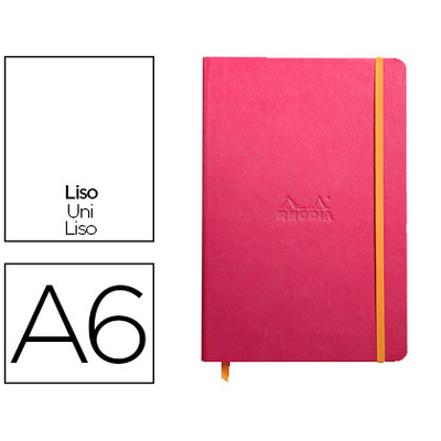 WEBNOTEBOOK A6 192 PAGES UNIES FRAMBOISE