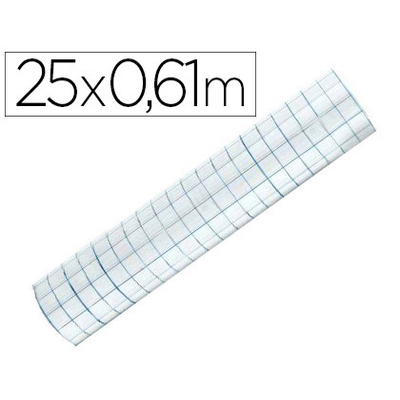 FILM PVC BRILLANT REPOSITIONNABLE 0.61X25M