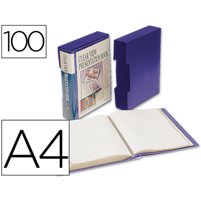DOS & COVER PERSONNALISABLE A4 200 VUES BLEU