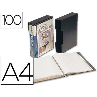 DOS & COVER PERSONNALISABLE A4 200 VUES NOIR