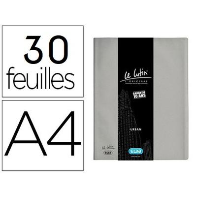 LUTIN CLASSIQUE A4 60 VUES GRIS MÉTAL