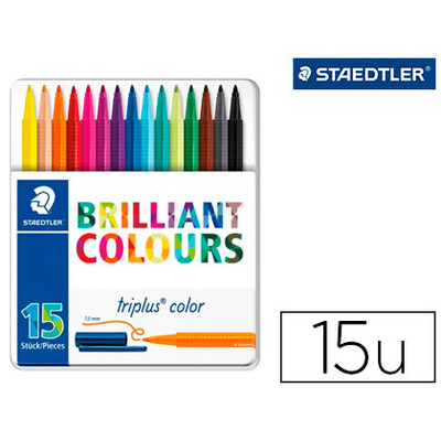 TRIPLUS BRILLANT COLOURS BOITE DE 15