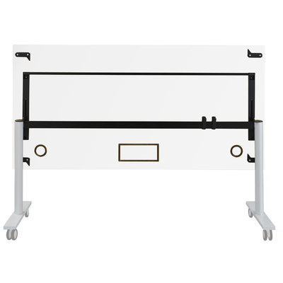 YES BLANC PIEDS BLANC TABLE MOBILE ET RABATTABLE 120CM