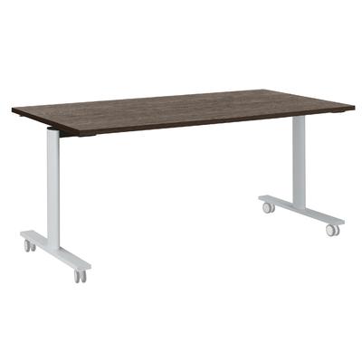 YES CHÊNE ROYAL PIEDS BLANC TABLE MOBILE ET RABATTABLE 180CM