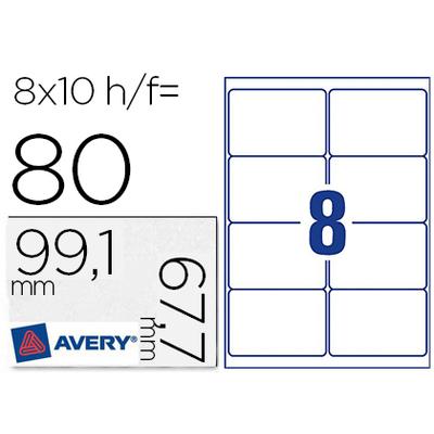 AVERY ÉTIQUETTES ULTRA RÉSISTANTES 99.1X67.7MM
