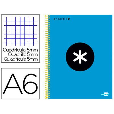 ANTARTIK A6 200 PAGES PETITS CARREAUX BLEU