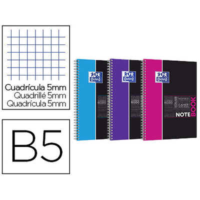 NOTEBOOK ETUDIANTS B5 160 PAGES 5X5