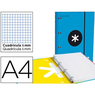 CLASSEUR ANTARTIK + FEUILLETS 5X5 BLEU