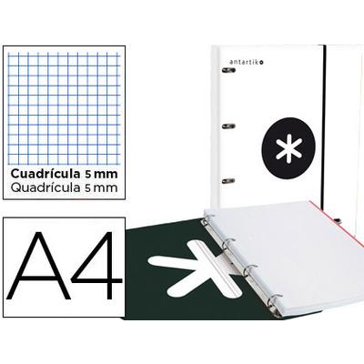 CLASSEUR ANTARTIK + FEUILLETS 5X5 BLANC