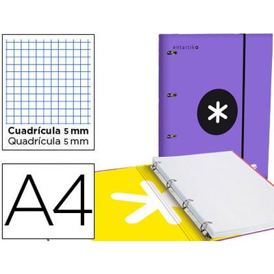 CLASSEUR ANTARTIK + FEUILLETS 5X5 VIOLET