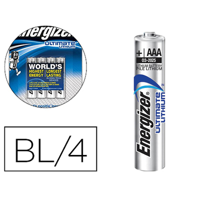 PILES ULTIMATE LITHIUM AAA/LR03 PACK DE 4