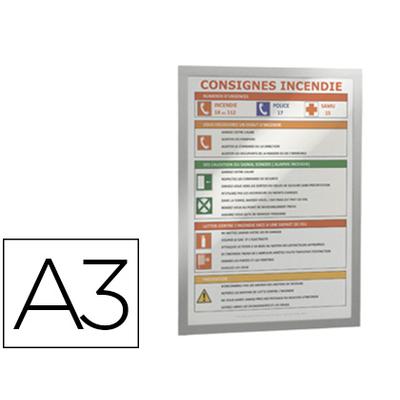 CADRE MAGNÉTIQUE DURAFRAME A3 ARGENT