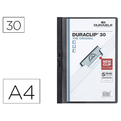 THE ORIGINAL DURACLIP 30 FEUILLES NOIR