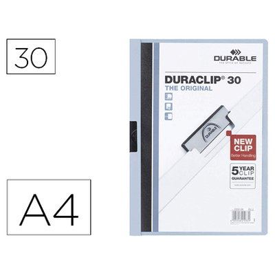 THE ORIGINAL DURACLIP 30 FEUILLES BLEU