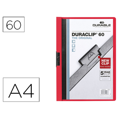 THE ORIGINAL DURACLIP 60 FEUILLES ROUGE