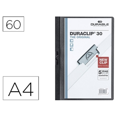 THE ORIGINAL DURACLIP 60 FEUILLES NOIR