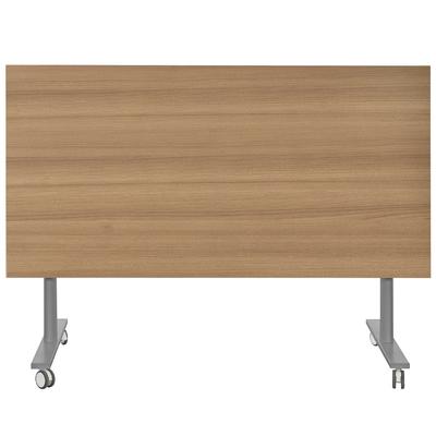 YES MERISIER PIEDS GRIS TABLE MOBILE ET RABATTABLE 120CM