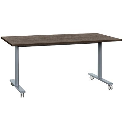YES CHÊNE ROYAL PIEDS GRIS TABLE MOBILE ET RABATTABLE 180CM