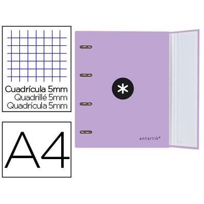 CLASSEUR ANTARTIK + FEUILLETS 5X5 LAVANDE