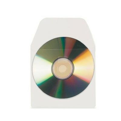 ETUI ADHÉSIF POUR CD/DVD SACHET DE 10