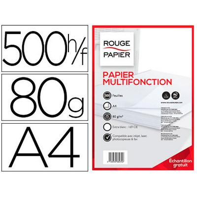ROUGE PAPIER A4 80G