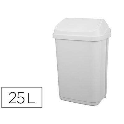 POUBELLE A COUVERCLE BASCULANT 25L