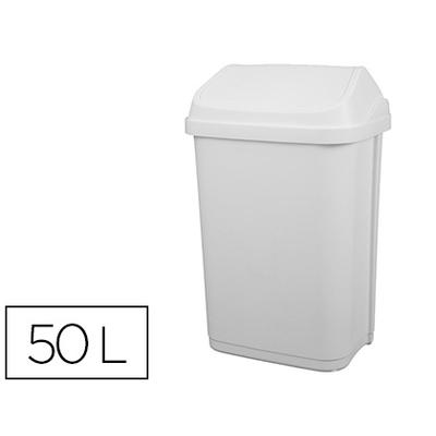 POUBELLE A COUVERCLE BASCULANT 50L