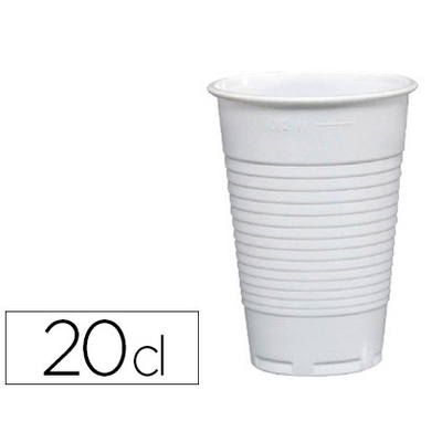 GOBELETS PLASTIQUES BLANCS 20CL SACHET DE 100