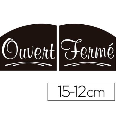 PANCARTE OUVERT/FERMÉ